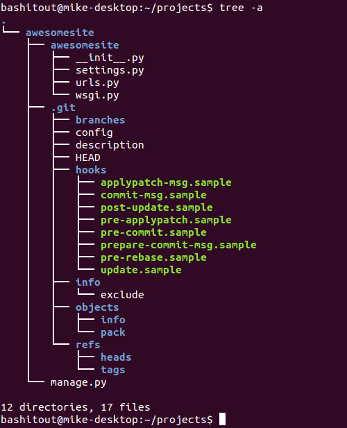 Output from Linux Tree