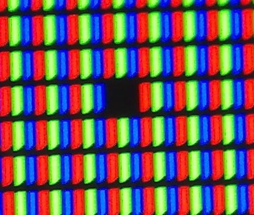 Macro LCD Pixels MacBook